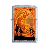 Zippo Lighter - Kokopelli Southwestern Street Chrome - 854058