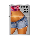 Zippo Lighter - Texas Tan Line Brushed Chrome - 854062