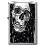 Zippo Lighter - Neal Taylor Skull Dreads Street Chrome - 854224