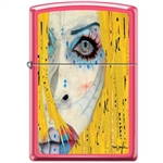 Zippo Lighter - Neal Taylor Painted Face Neon Pink - 854227