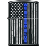 Zippo Lighter - We Bleed Blue Black Matte - 854418