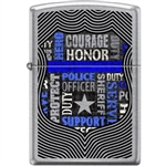 Zippo Lighter - Badge of Honor Street Chrome - 854419