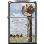 Zippo Lighter - Cattle Ranch Iron Stone - 854446