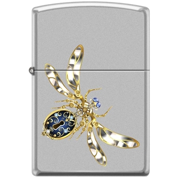 Zippo Lighter -Steampunk Bug Satin Chrome - 854457