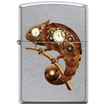Zippo Lighter - Steampunk Chameleon Satin Chrome - 854458