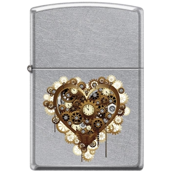 Zippo Lighter -Steampunk Heart Antique Silver - 854461