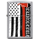 Zippo Lighter - Firefighter Axe Satin Chrome - 854646