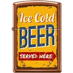 Zippo Lighter - Ice Cold Beer Served Here Toffee - 854721