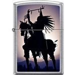 Zippo Lighter - Indian on Horse Street Chrome - 854727