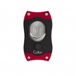 Colibri S-Cut Cigar Cutter Black & Red - CU500T2