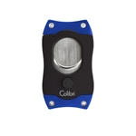 Colibri EZ S-Cut Cigar Cutter Black & Blue - CU550T3