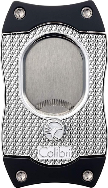 Colibri Monza S-Cut Cigar Cutter Chrome/Black - CU560T2