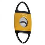 Lotus Jaws Serrated Cigar Cutter Yellow & Black - CUT603