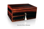 Savoy Humidor - Executive Ebony Macassar Medium - EEMMED