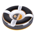 Cohiba Circle Ceramic Ashtray 4 Cigar Holder - Black