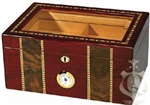 Humidor - Pompeii Glass Top Cherry - HUM-100PR