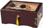 Humidor - El Rey Medium Glass Top Mahogany - HUM-150G
