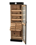 Humidor - Commercial Cigar Tower II Black Oak - HUM-2000BLK