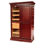 Cigar Humidor & Wine Rack Walnut Finish - HUM-CWR-W