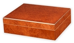 Humidor - Traveler 20 Small Desktop/Travel In Burl - HUM-TR20B