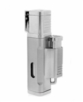 Jetline El Grande Quad Torch Lighter Silver