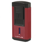 Lotus Lighter - Duke L60 Triple Flame w/ Cutter Red & Black