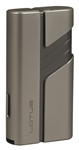 Lotus Hercules L62 Double Jet Lighter w/Cigar Punch Lt/Dk Gunmetal - L6210