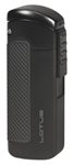 Lotus CEO L66 Triple Jet Lighter w/Cigar Punch Matte Black - L6600