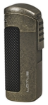 Lotus CEO L66 Triple Jet Lighter w/Cigar Punch Antique Pewter - L6610