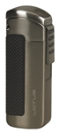 Lotus CEO L66 Triple Jet Lighter w/Cigar Punch Gunmetal Satin - L6620