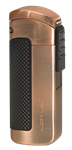 Lotus CEO L66 Triple Jet Lighter w/Cigar Punch Brushed Copper - L6630