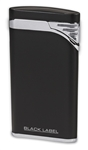 Black Label Stiletto Lighter Matte Black/Chrome Velour - LBL130000