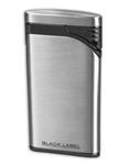 Black Label Stiletto Lighter Brushed Chrome/Matte Black - LBL130010