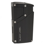 Black Label Czar Quad Torch Cigar Lighter Anodized Black Matte