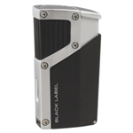 Black Label Czar Quad Torch Cigar Lighter Black Matte/Chrome