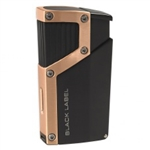 Black Label Czar Quad Torch Cigar Lighter Black Matte/Copper