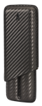 Lotus 2-Stick Carbon Fiber Wrap Cigar Case - LCC62