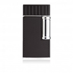 Colibri Lighter - Julius Flint Double Flame Black/Chrome - LI221C2