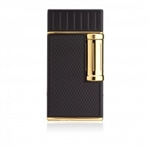 Colibri Lighter - Julius Flint Double Flame Black & Gold - LI221C3