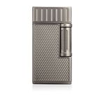 Colibri Lighter Julius Flint Double Soft Flame Brushed Gunmetal - C9