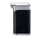 Colibri Pacific Air Pipe Flame Lighter Black & Chrome - LI400C5