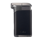 Colibri Pacific Air Pipe Flame Lighter Black & Gunmetal - LI400C7
