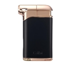 Colibri Pacific Air Pipe Flame Lighter Black & Rose Gold - LI400C9
