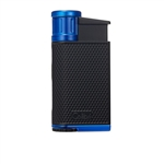 Colibri Lighter - Evo Angled Single Jet Black & Blue - LI520C3