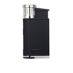 Colibri Lighter - Evo Angled Single Jet Black & Chrome - LI520C4