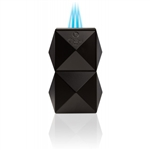 Colibri Quasar Table Triple Flame Lighter Black - LI710T1