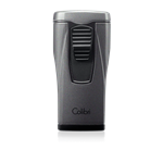 Colibri Monaco Triple-Flame Lighter (Metallic) Charcoal - LI880T6