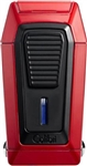 Colibri Gotham Triple Jet Red/Black Lighter w/ V-Cut - LI970C4