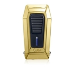 Colibri Quantum Triple Jet Gold Lighter w/ V-Cut - LI970C6