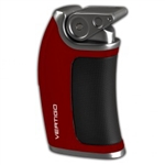 Vertigo Lighter - Curve Single Torch Red - VERTCURVERED